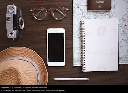 travel items images Flat lay of travel items a royalty free stock photo from photocase jpeg