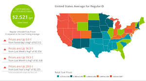 Gas Prices By State Map by Aly Sider Alyrose Twitter