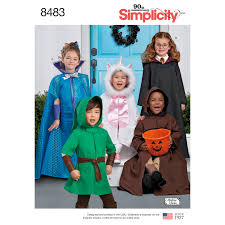 simplicity halloween costume patterns simplicity pattern 8483 child u0027s cape costumes
