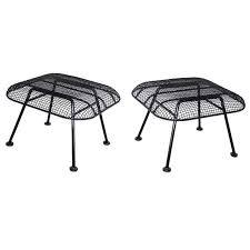 wrought iron patio ottoman pair of woodard wrought iron with steel mesh ottomans wrought iron
