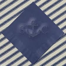 wedding cake napkins vintage anchor personalized nautical wedding napkins with couples