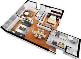Home Design For 3 Room Flat Flat Room Design Home Decorating Interior Design Bath