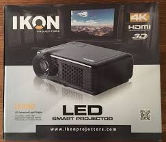 smart home theater projector ik400 led 4k home theater projector u0026 is72 projector screen
