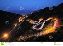 Light Painting Landscape Photography by Light Painting And Winding Road Stock Photo Image 50807499