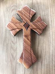 wood crosses for crafts cross of lillies in walnut hogares shapes and