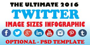 the new 2016 twitter cover photo size infographic psd template