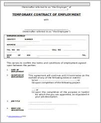temporary employment contract temporary employment contract form
