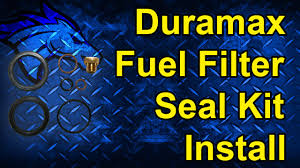 duramax fuel filter seal kit install 01 10 duramax ap0029 youtube