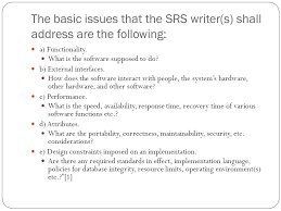 contents of the srs report software requirements specification