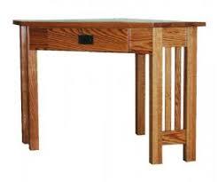Corner Writing Desk Woodworking Mission Style Corner Writing Desk