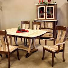 maple dining room table sets set used antique solid chairs rock