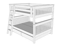 Bunk Bed Drawing B094 Bunk Bed Mission The Bunk Loft Factory