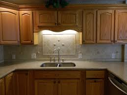Wood Cabinet Kitchen Beige Tiles Flooring Black Painted Wood Cabinets Design Cool