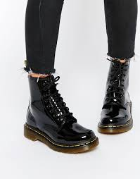 womens boots uk asos dr martens modern classics 1460 patent 8 eye boots shoes