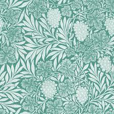 william morris jungle vines white on peacoquette wallpaper