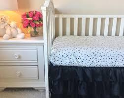 black crib bedding etsy