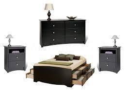 bedroom black bedroom dresser with mirror nightstand with