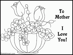 coloring pages mothers day flowers mothers day flowers coloring pages for mother s youaremysunshine me