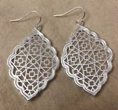 filigree earrings silver filigree earrings kendra dangle earrings by