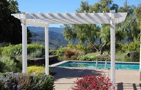 White Vinyl Pergola by 50 Beautiful Pergola Ideas Design Pictures Designing Idea
