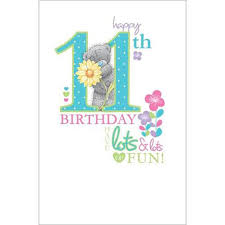 happy 11th birthday me to you card a01es027 me to you
