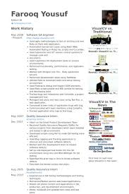 Online Resume Software by Qa Engineer Resume Samples Visualcv Resume Samples Database