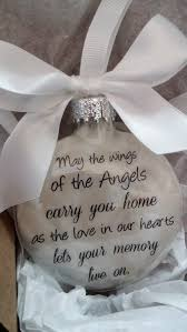 memorial christmas ornament may the wings of angels carry you