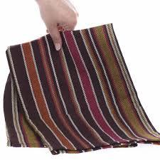 brown bright chevron weave striped cloth dish towel kitchen towels