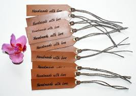 wedding gift tags set of 10 tags personalized leather hang tag wedding gift tags