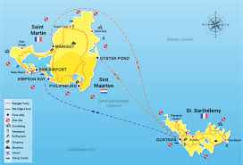 map of st martin best and fast ferry to get from st maarten to st barths
