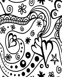 free printable groovy hearts coloring page for valentine u0027s day