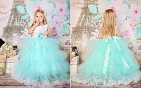 Tiffany Blue Flowers So Fluffy Tiffany Blue X White Tulle Flower Dress Praise