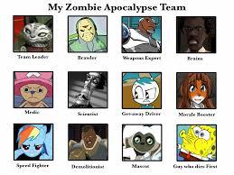 My Zombie Apocalypse Team Meme Creator - kungfu blaziken s zombie apocalypse team by kungfu blaziken on