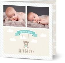 baby thank you cards personalised baby thank you cards w photo 48hr delivery