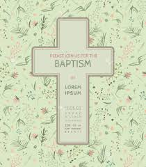 Invitation Card Baptism Beautiful Baptism Invitation Card With Floral Hand Drawn