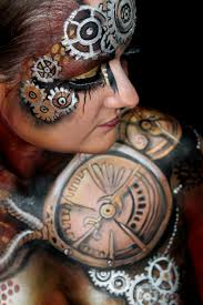 file bodypainting steampunk style jpg wikimedia commons