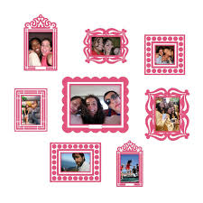 dorm wall decals room decals removable decals dormify pink sticker frame set