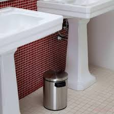 toiletry red bathroom trash can bathroom waste cans stainless