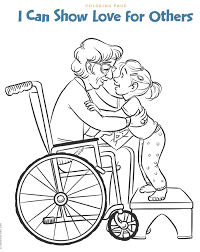 tithing coloring page grandparents elderly clipart teaching lds children