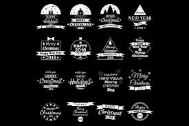 merry christmas happy 2018 objects creative market