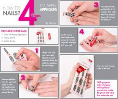 4 simple steps to applying nail appliques del sol