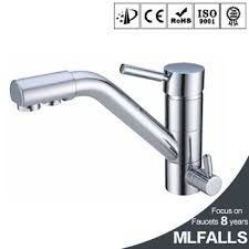 3 kitchen faucet 3 way brass lead free kitchen faucet mixer water filter