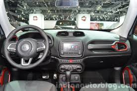 gray jeep renegade interior 2015 jeep renegade trailhawk dashboard at the iaa 2015 indian