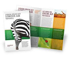 zoo brochure template zoo brochure template the best templates collection