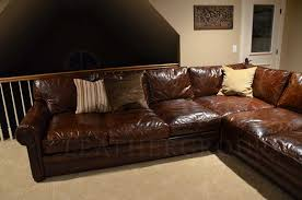 Worn Leather Sofa Alluring Worn Leather Sectional Distressed Leather Sofa 21