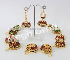 pachi earrings meenakari brass pachi drop earrings traditional meenakari