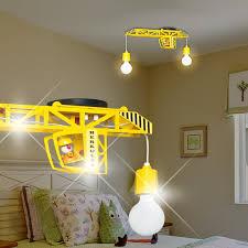 eclairage chambre enfant grue balises à accrocher enfant jaune le suspension chambre d