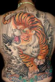 awesome tiger on back