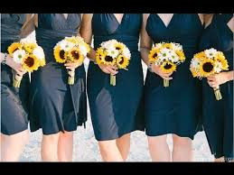Sunflower Wedding Bouquet Sunflower Daisy Wedding Bouquet Youtube