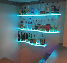 led lighted bar shelves wall mounted led bar shelves
